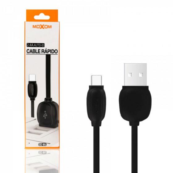Cable Moxom Carga rápida AUTO ID 2.4A lightning 2