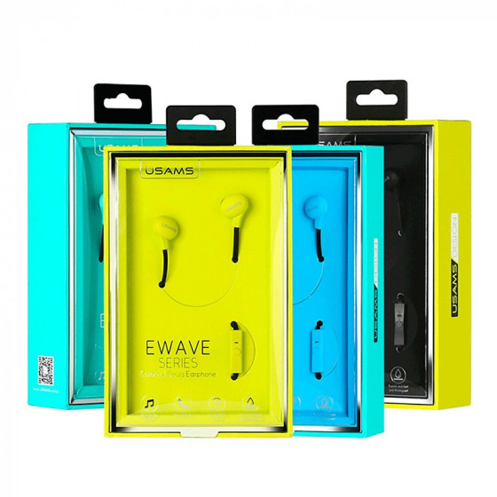 Usams Auriculares Ewave Series - Earphone Colorido Doug