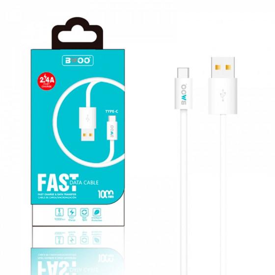 Cable BWOO 2.4A - Carga rápida - 1m - USBC