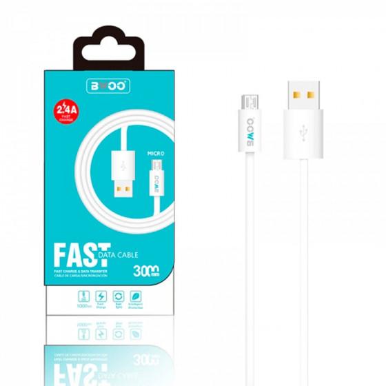 Cable BWOO 2.4A - Carga rápida - 3m - USB-C