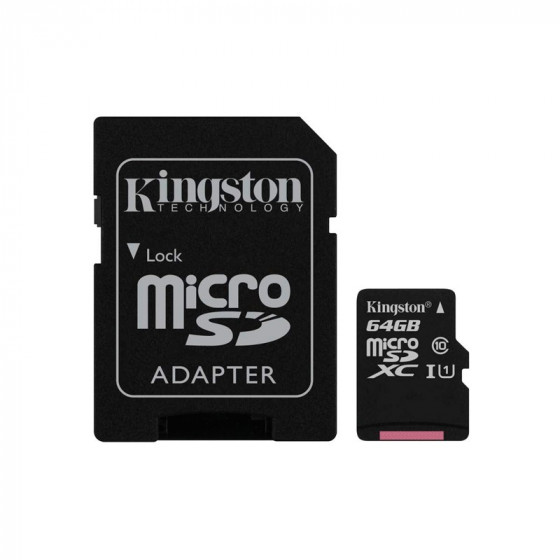 Kingston Tarjeta Memoria 64GB - Con adaptador