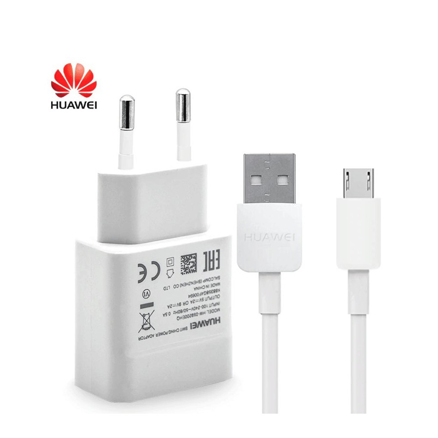 Huawei Travel Adapter + USB - micro USB Cable