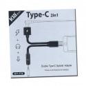 Kyin KY-174 - Cable Doble Tipo-C con adaptador auriculares