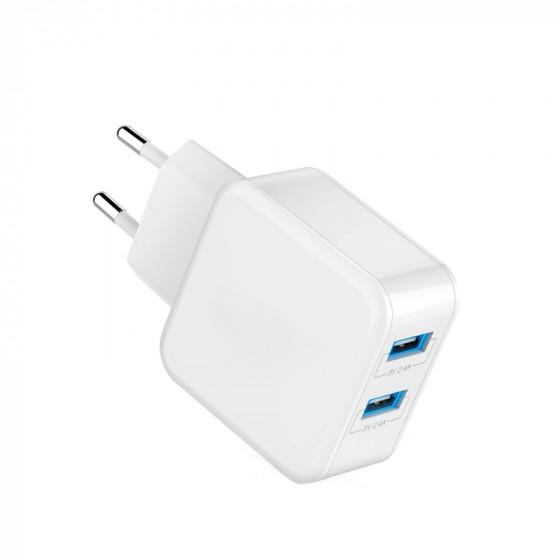 Enchufe cargador - Adaptador de red 2 puertos USB de carga