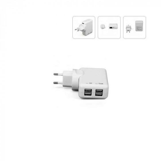 Cargador Múltiple para smartphones Superpower 4 puertos USB
