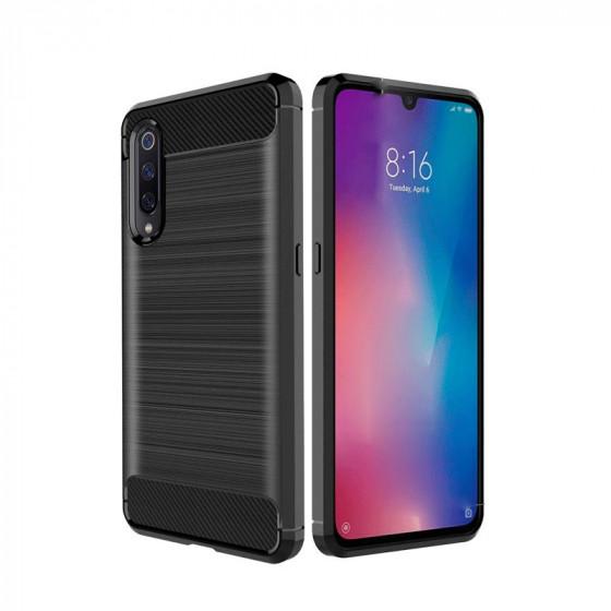 "Xiaomi Mi 9 6,39"" (funda rígida cepillada TPU)"