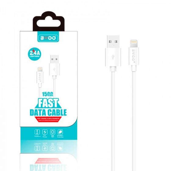 Cable BWOO X5 Carga rápida 2.4A - Lightning