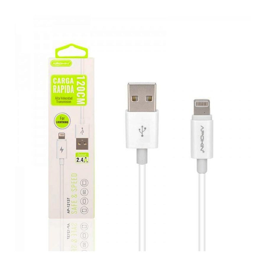 Cable USB2.0 a Lightning - APOKIN - Carga rápida 2.4A