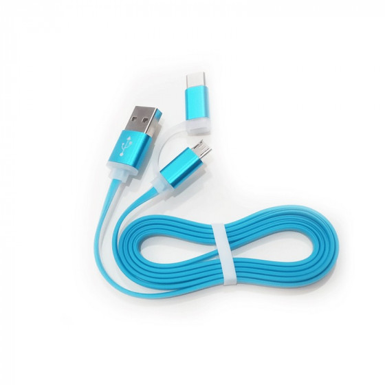 Cable carga y sincronización de datos microUSB y USB-C