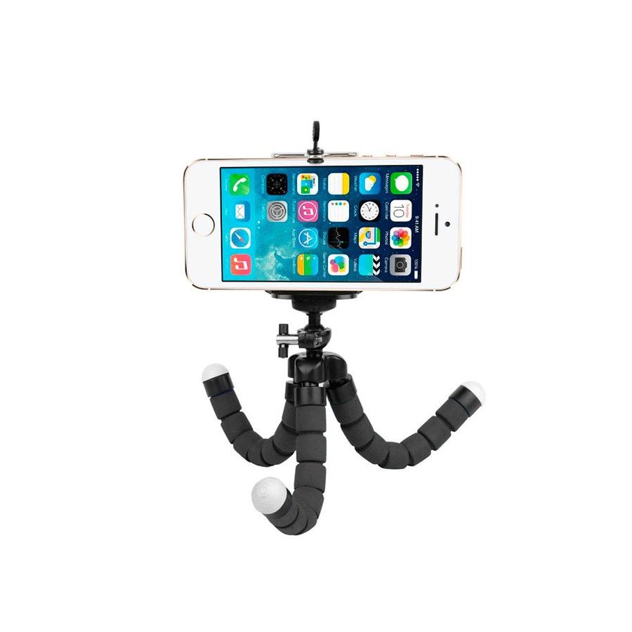 Trípode flexible octopus universal con soporte