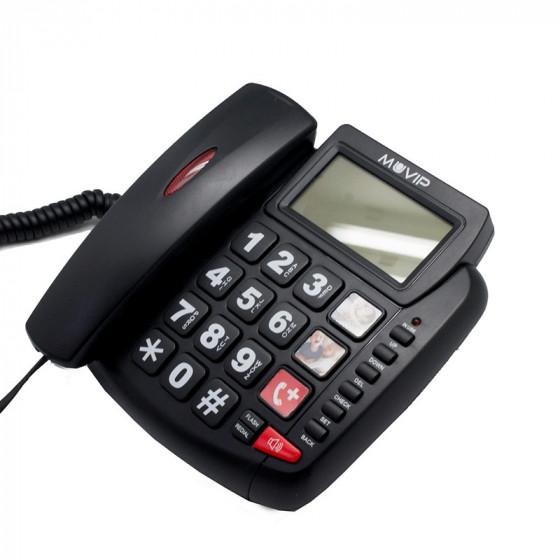 MUVIP Big Phone - Teléfono fijo para personas mayores