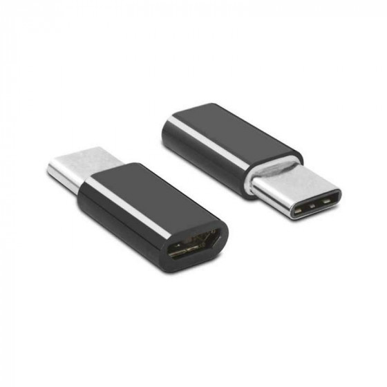 Adaptador micro USB (macho) a USB tipo C (hembra)