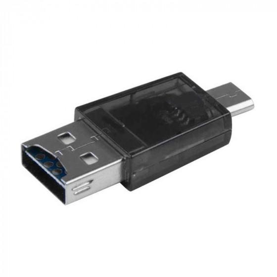 Adaptador USB 2.0 a Micro USB, Tipo A/F-B/M