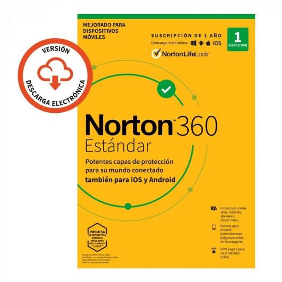 Antivirus Symantec Norton 360 Estándar - 1 año - nube 10GB