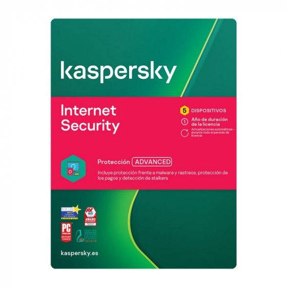 Kaspersky Internet Security - 5 dispositivos - Antivirus