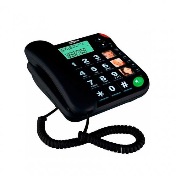 Maxcom teléfono fijo KXT480 - Teclas grandes - 3 fotófonos - Compatible con audífonos con la posición T