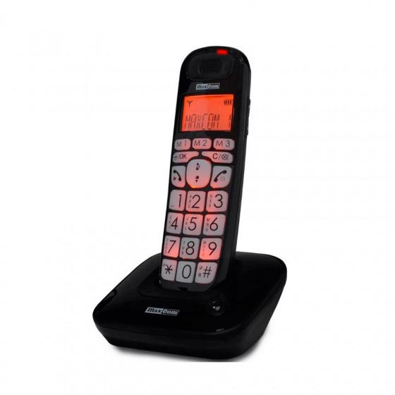 Maxcom DEC MC6800 - Teléfono inalámbrico personas mayores - Teclas grandes, memorias directas - Compatible con audífonos