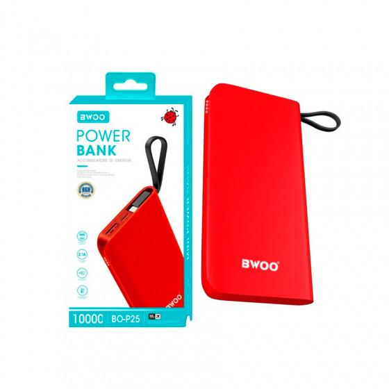 Powerbank Bwoo BO-P25 10000mAh 2.1A - Triple entrada + Cable