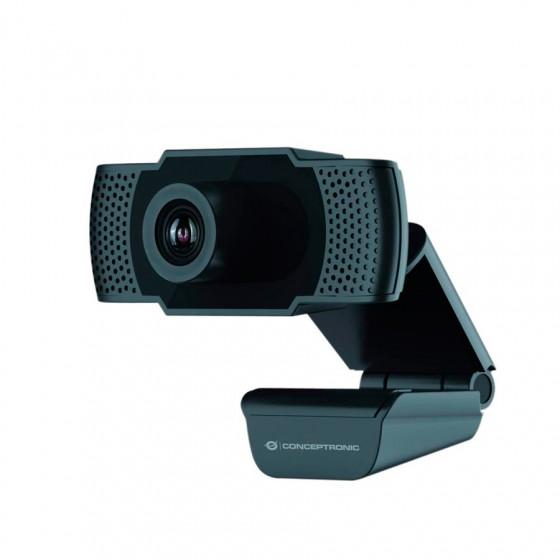 Webcam con micrófono Conceptronic - Resolución 1080p Full HD