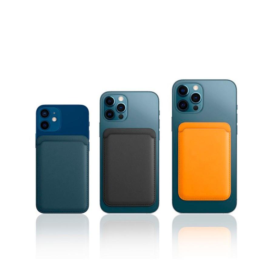 Tarjetero magnético Magsafe para todos los modelos Apple iPhone 12 - Efecto piel - Varios colores