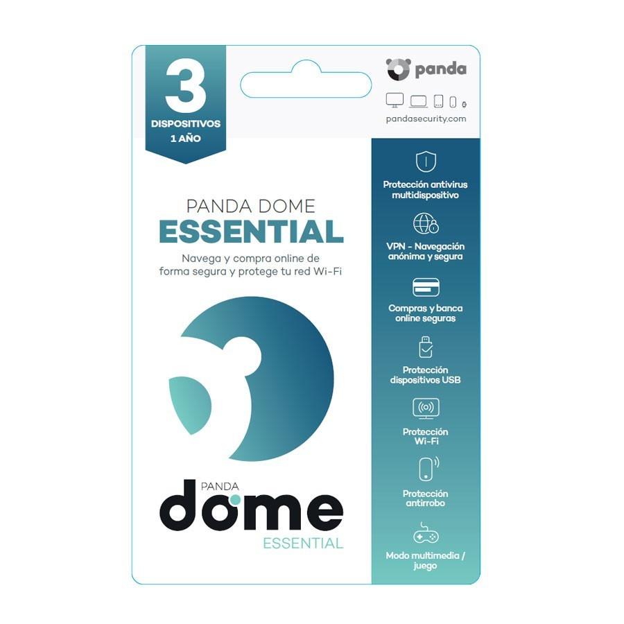 Licencia anual del antivirus Panda Dome Essential - 3 dispositivos