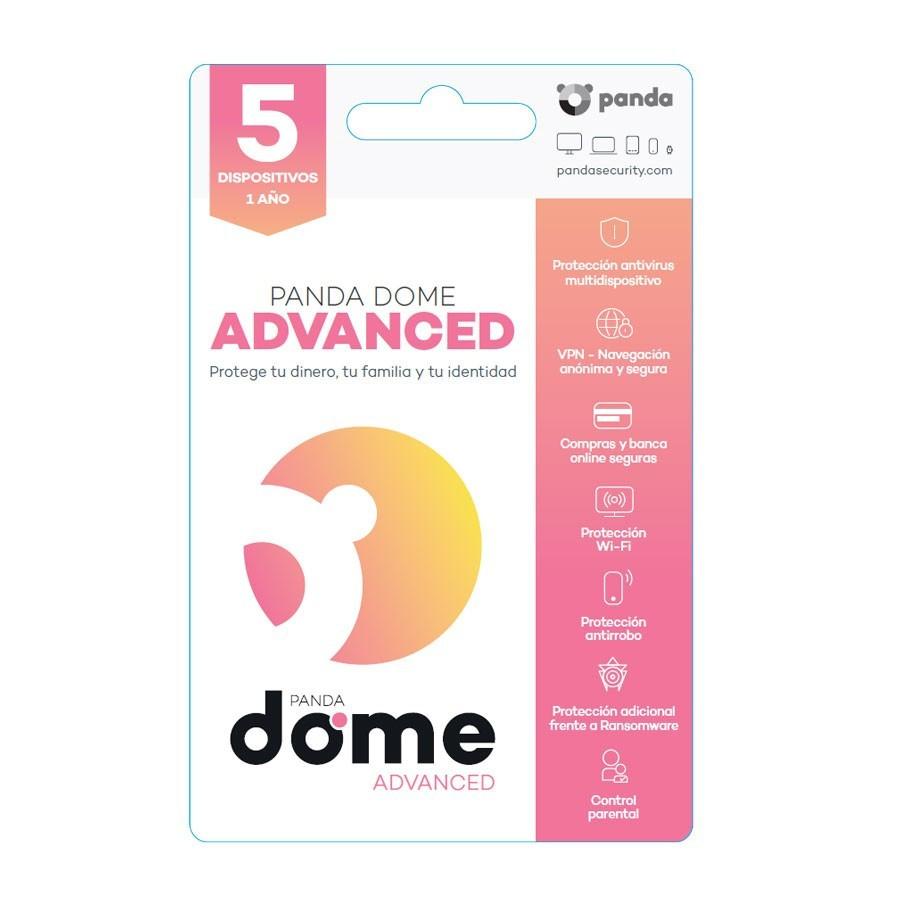 Licencia anual del antivirus Panda Dome Advance - 5 dispositivos