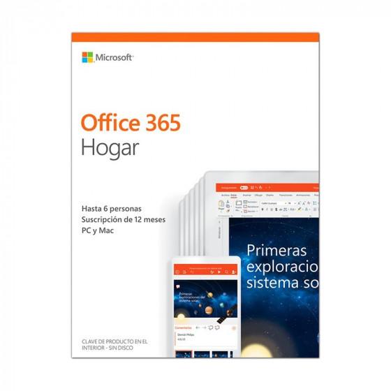Licencia Microsoft Office 365 Hogar- 6 personas - 12 meses