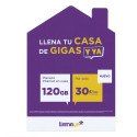 Tarjeta SIM prepago Llamaya - Planazo Internet en casa - 120GB de 4G