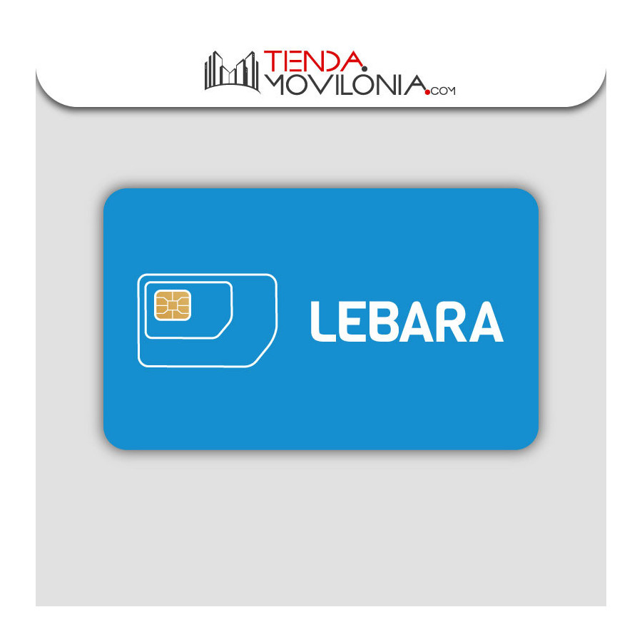 Tarjeta SIM prepago Lebara - 5€ saldo - Internet 4G