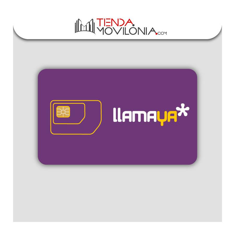Tarjeta SIM prepago Llamaya - Llamadas e lnternet 4G
