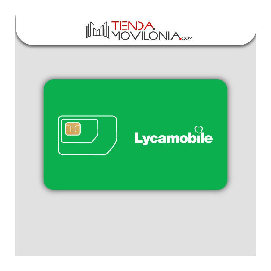 Tarjeta SIM prepago Lycamobile - 4G - cobertura Yoigo