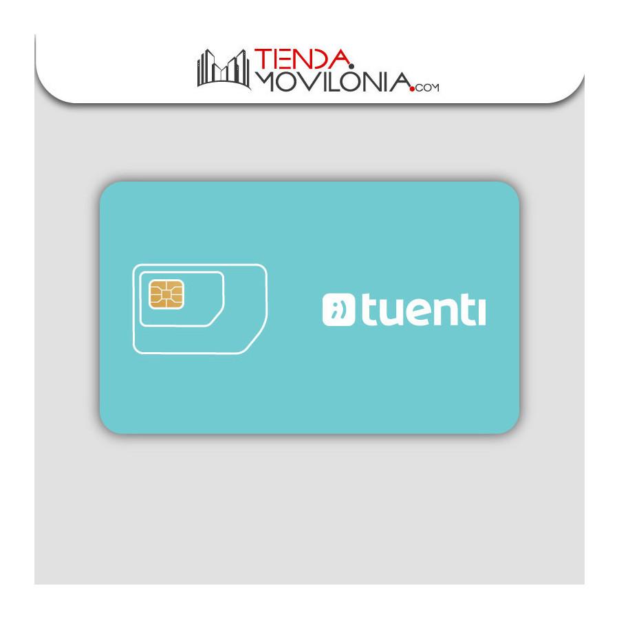 Tarjeta SIM prepago de Tuenti - Cobertura 4G Movistar - Sin permanencia