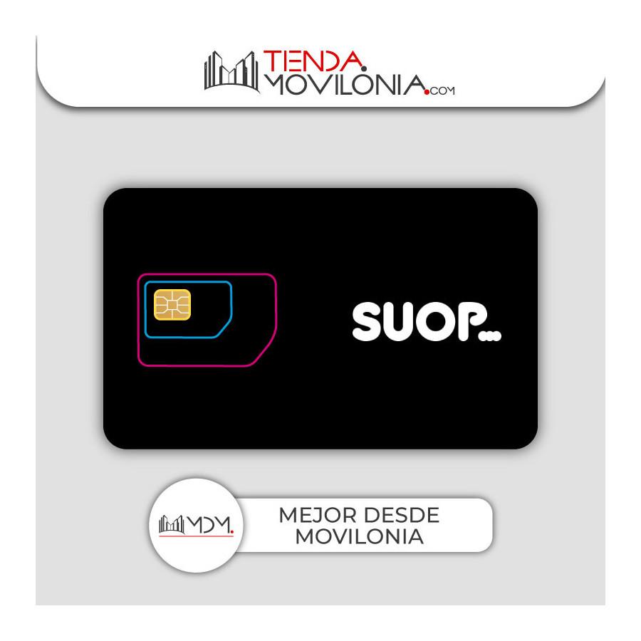 Tarjeta SIM prepago de Suop - Con saldo - Llamadas y 4G con cobertura Orange