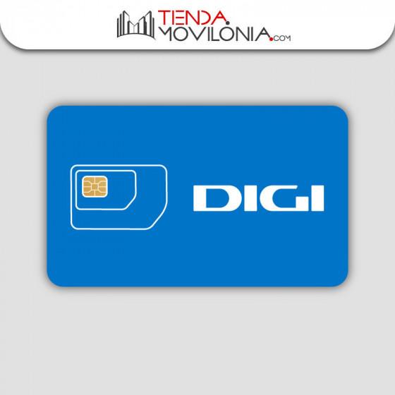 Tarjeta SIM prepago de DIGI - Llamadas y 4G acumulable - Cobertura Movistar