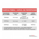 Tarifas Pepephone de fibra + móvil - GB acumulables - Cobertura Yoigo y Orange