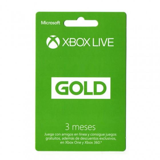 Código digital canjeable por una suscripción a Microsoft XBOX Live GOLD