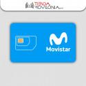 Tarjeta SIM prepago Movistar - Con 10 euros de saldo - Internet móvil 4G