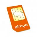 Tarjeta SIM prepago de Simyo - Llamadas y 4G - Cobertura Orange