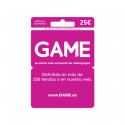 Tarjeta regalo de 25 euros para comprar en tiendas GAME y su web