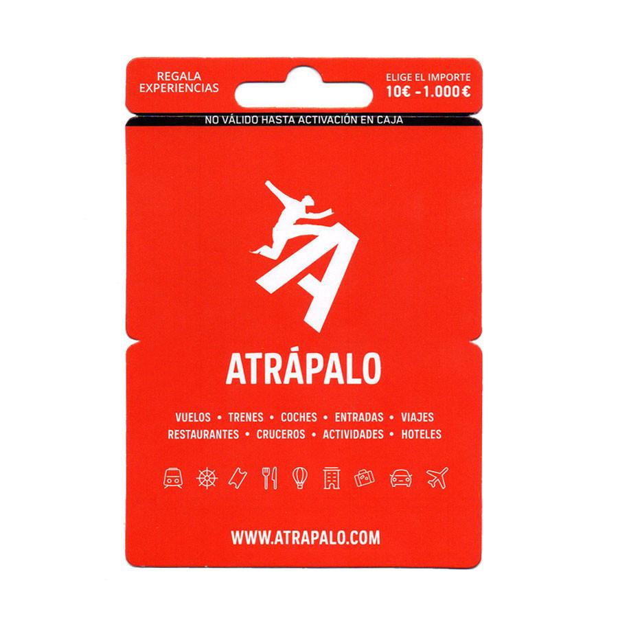 Tarjeta prepago Atrápalo - Recarga saldo entre 10 y 1.000 euros - Viajes, entradas, cursos...