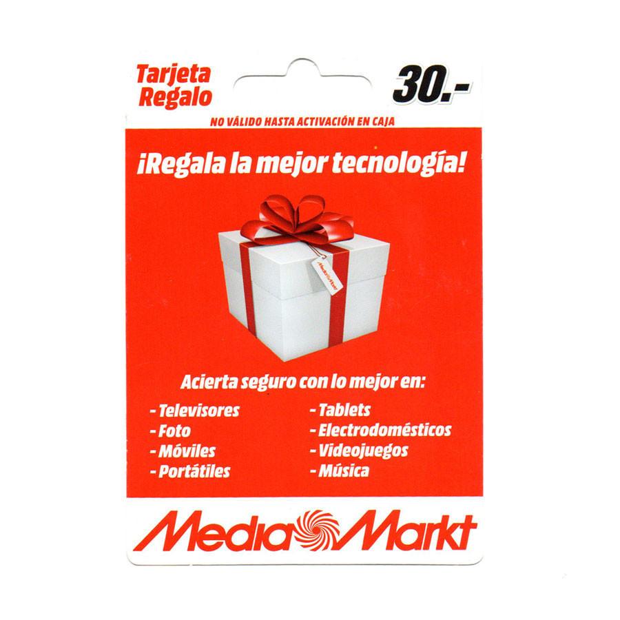 Tarjeta regalo Media Markt - 30 euros de saldo para comprar en sus tiendas y web