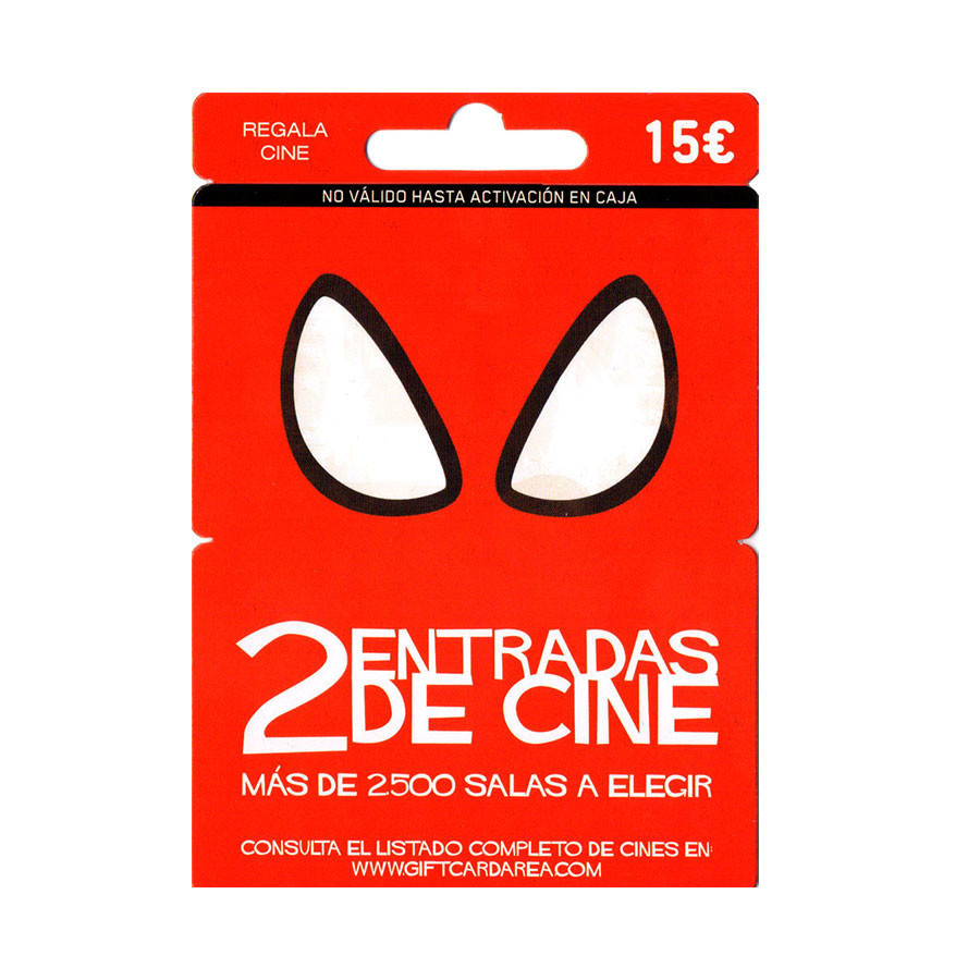 Tarjeta regalo canjeable por 2 entradas de cine - Más de 2.500 salas de Cinesa, Yelmo, Kinépolis...