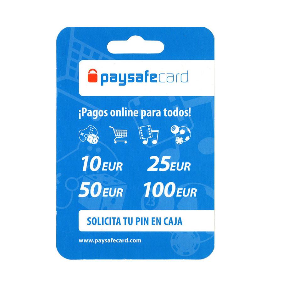 Código digital canjeable en Paysafecard - Entre 5 y 100 euros - Puedes pagar con PayPal