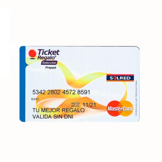 Tarjeta Mastercard Ticket Regalo Selección - Incluye 25 euros de saldo - Puedes pagar con PayPal