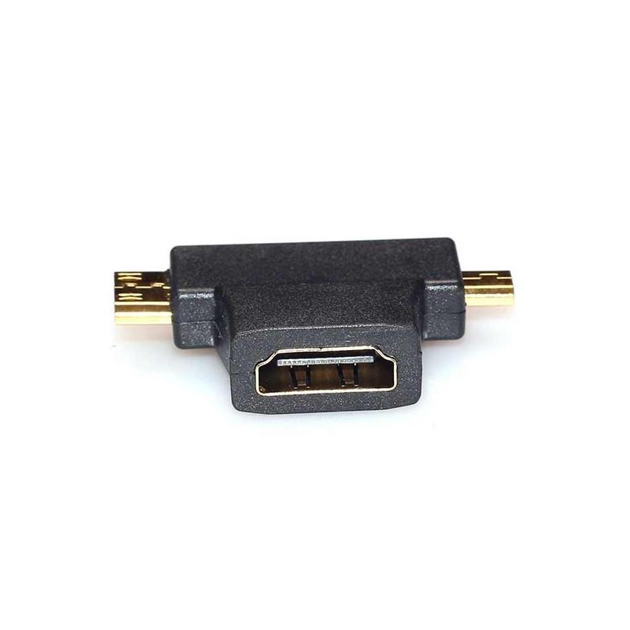 Adaptador HDMI a Mini HDMI+MicroHDMI