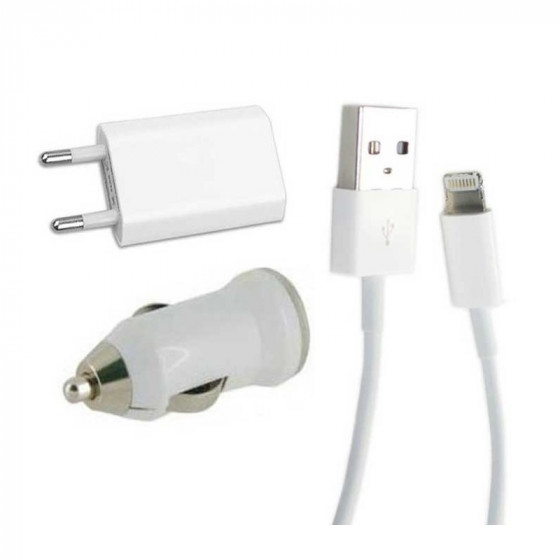Cargador 3 en 1 para iPhone (con conector lightning)