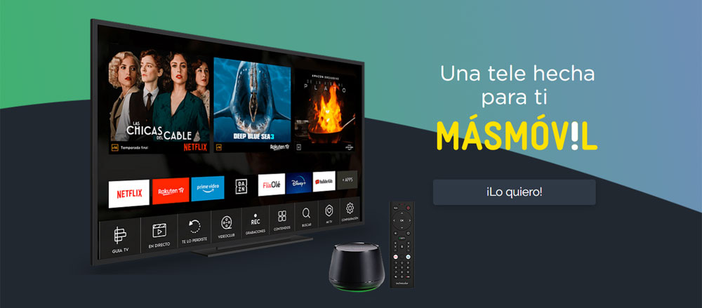Agile TV para clientes de Masmóvil