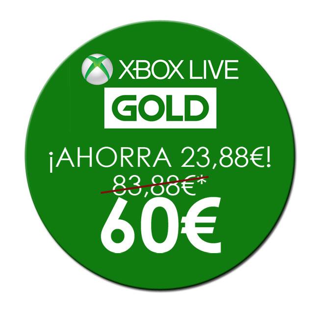 oferta de XBOX Live GOLD para 12 meses