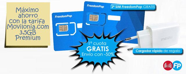 máximo ahorro con la tarifa Movilonia.com 3,5GB Premium