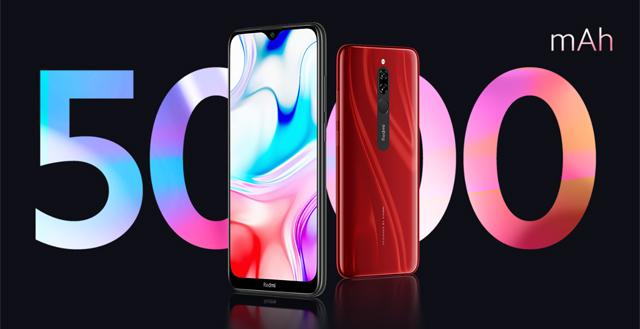 batería de 5.000mAh de Xiaomi Redmi 8